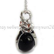 Natural-Gemstone-Round-Ball-Eagle-Claw-Falcon-Talons-Healing-Pendant-Charm-Bead-262762610662-8a15