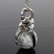 Natural-Gemstone-Round-Ball-Eagle-Claw-Falcon-Talons-Healing-Pendant-Charm-Bead-262762610662-941a