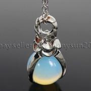 Natural-Gemstone-Round-Ball-Eagle-Claw-Falcon-Talons-Healing-Pendant-Charm-Bead-262762610662-bf22