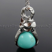 Natural-Gemstone-Round-Ball-Eagle-Claw-Falcon-Talons-Healing-Pendant-Charm-Bead-262762610662-d7f6