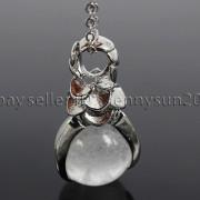 Natural-Gemstone-Round-Ball-Eagle-Claw-Falcon-Talons-Healing-Pendant-Charm-Bead-262762610662-ddc9