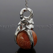 Natural-Gemstone-Round-Ball-Eagle-Claw-Falcon-Talons-Healing-Pendant-Charm-Bead-262762610662-f1c6