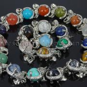Natural-Gemstone-Round-Ball-Reiki-Chakra-Healing-Elephant-Pendant-Necklace-Beads-262733039975-2