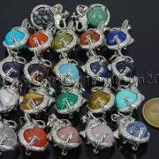 Natural-Gemstone-Round-Ball-Reiki-Chakra-Healing-Elephant-Pendant-Necklace-Beads-262733039975-3
