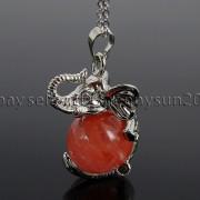 Natural-Gemstone-Round-Ball-Reiki-Chakra-Healing-Elephant-Pendant-Necklace-Beads-262733039975-3a41