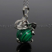 Natural-Gemstone-Round-Ball-Reiki-Chakra-Healing-Elephant-Pendant-Necklace-Beads-262733039975-72d8