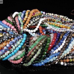 Natural-Gemstones-35mm-4mm-45mm-Faceted-Round-Beads-15-16-Pick-Stone-370934550835
