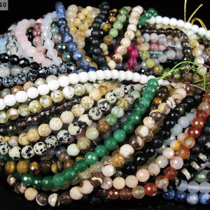 Natural-Gemstones-6mm-Faceted-Round-Loose-Beads-Strand-15-16-Pick-Stone-281211736541