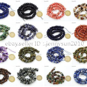 Natural-Gemstones-Freeform-Rondelle-Coin-Disc-Spacer-35x813mm-Beads-15-281697113160