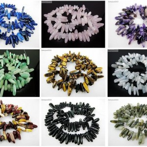 Natural-Gemstones-Freeformed-Stick-Beads-16-For-Bracelet-or-Necklace-Making-281164804633