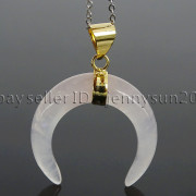 Natural-Gemstones-Gold-Plated-Crescent-Moon-Pendant-Charm-Beads-Healing-282290274301-120f
