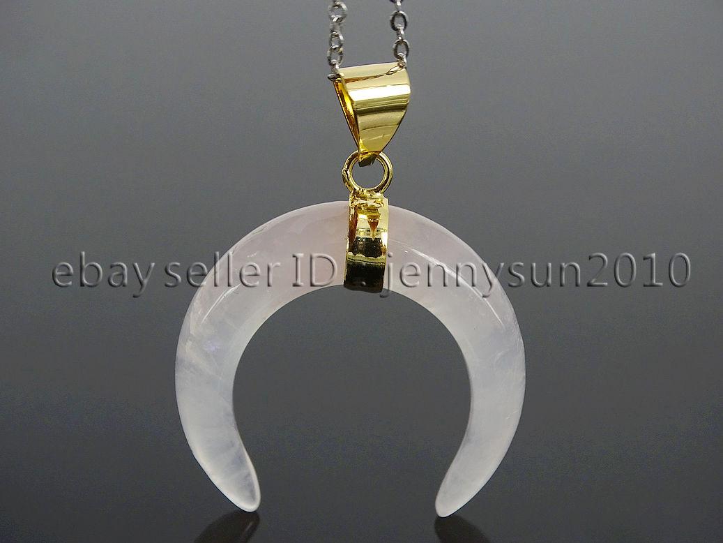 Mini Crescent Moon Beads Crescent Moon Pendant SALE10pcs NP-1745 Matt Gold Plated