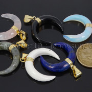 Natural-Gemstones-Gold-Plated-Crescent-Moon-Pendant-Charm-Beads-Healing-282290274301-4