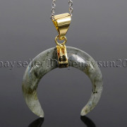 Natural-Gemstones-Gold-Plated-Crescent-Moon-Pendant-Charm-Beads-Healing-282290274301-6da7