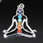 Natural-Gemstones-Healing-Reiki-Chakra-Meditating-Figure-Pendant-Charm-Beads-261678663801