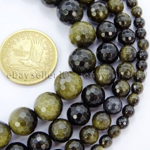 Natural-Golden-Obsidian-Gemstone-Faceted-Round-Beads-155-6mm-8mm-10mm-12mm-371397182068