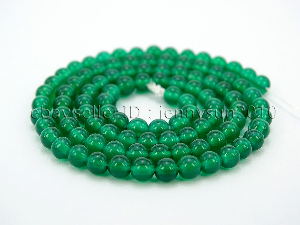 possibly dyed 16 strand 1378  6mm Green Chrysotine Grade AAA Round beads