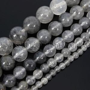 Natural-Grey-Cloudy-Quartz-Gemstone-Round-Beads-155-4mm-6mm-8mm-10mm-12mm-282061232503