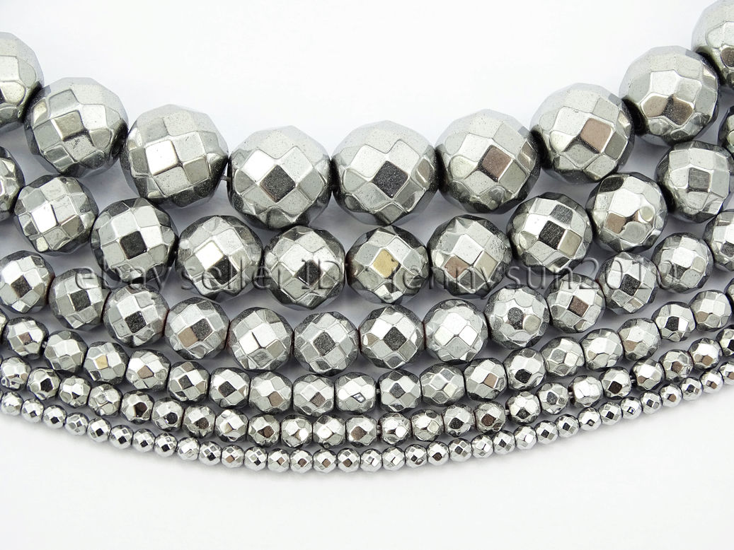 jewellery products making hematite large faceted beads facets image t