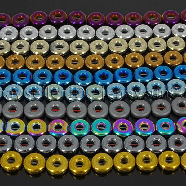 Natural-Hematite-Gemstone-Round-Donut-Ring-Spacer-Loose-Beads-10mm-16-Strand-371802208895