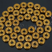 Natural-Hematite-Gemstone-Round-Donut-Ring-Spacer-Loose-Beads-10mm-16039039-Strand-371802208895-cf4b