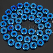 Natural-Hematite-Gemstone-Round-Donut-Ring-Spacer-Loose-Beads-10mm-16039039-Strand-371802208895-ece9
