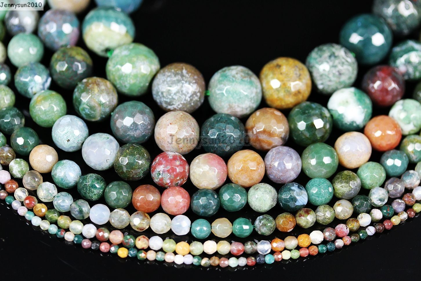 """10MM Multicolor Agate Onyx Coin Shape Loose Beads 15/"""""""