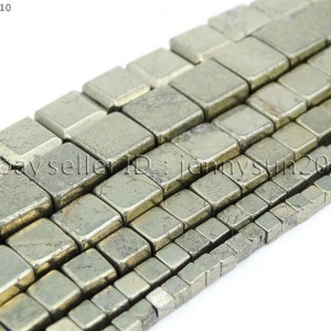 Natural-Iron-Pyrite-Gemstone-Square-Cube-Spacer-Beads-15-3mm-4mm-6mm-8mm-10mm-281704413670