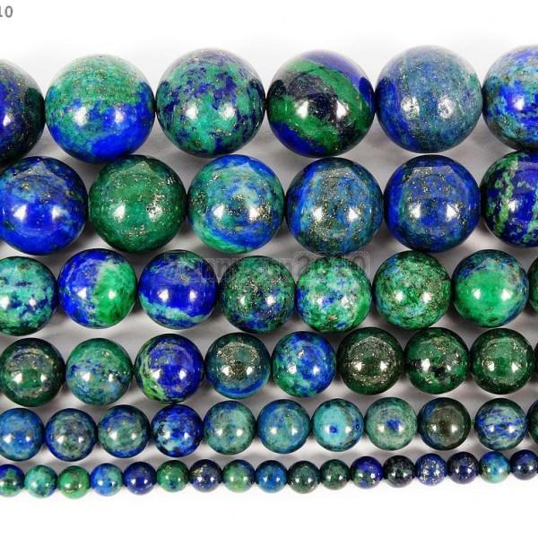 Natural-Lapis-Lazuli-Chrysocolla-Gemstone-Round-Beads-16-4mm-6mm-8mm-10mm-12mm-370700566226