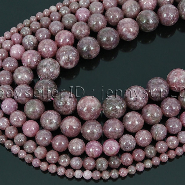 Natural-Lepidolite-Gemstones-Round-Spacer-Loose-Beads-15-4mm-6mm-8mm-10mm-12mm-262734259652