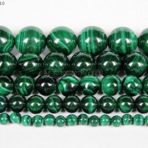 Natural-Malachite-Gemstone-Round-Beads-155-Strand-4mm-6mm-8mm-10mm-12mm-251101201351
