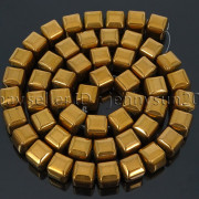 Natural-Non-Magnetic-Hematite-Gemstone-8mm-Faceted-Cube-Square-Loose-Beads-16quot-262749794720-8f53