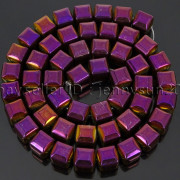 Natural-Non-Magnetic-Hematite-Gemstone-8mm-Faceted-Cube-Square-Loose-Beads-16quot-262749794720-fa48