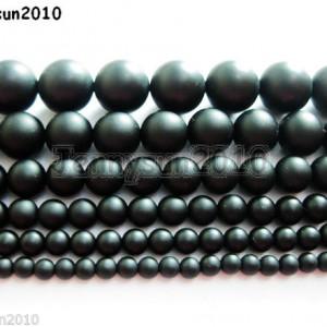 Natural-Onyx-Gemstone-Round-Beads-Matte-Black-155-4mm-5mm-6mm-8mm-10mm-12mm-261046167036