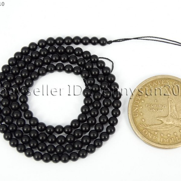product round onyx beads black matte gemstone natural
