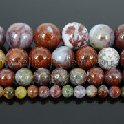 Natural-Red-Lightning-Agate-Gemstone-Round-Spacer-Beads-155-4mm-6mm-8mm-10mm-262803277642-3