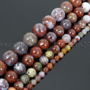 Natural-Red-Lightning-Agate-Gemstone-Round-Spacer-Beads-155-4mm-6mm-8mm-10mm-262803277642-4