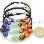 Natural-Reiki-Chakra-Gemstones-Round-Beads-Handmade-Adjustable-Bracelet-Healing-262784805350-10
