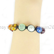 Natural-Reiki-Chakra-Gemstones-Round-Beads-Handmade-Adjustable-Bracelet-Healing-262784805350-15a4