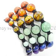 Natural-Reiki-Chakra-Gemstones-Round-Beads-Handmade-Adjustable-Bracelet-Healing-262784805350-3
