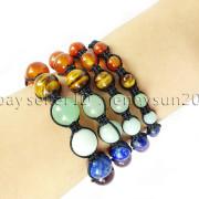 Natural-Reiki-Chakra-Gemstones-Round-Beads-Handmade-Adjustable-Bracelet-Healing-262784805350-5