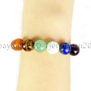 Natural-Reiki-Chakra-Gemstones-Round-Beads-Handmade-Adjustable-Bracelet-Healing-262784805350-5143