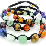 Natural-Reiki-Chakra-Gemstones-Round-Beads-Handmade-Adjustable-Bracelet-Healing-262784805350-6