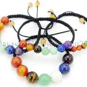 Natural-Reiki-Chakra-Gemstones-Round-Beads-Handmade-Adjustable-Bracelet-Healing-262784805350-8