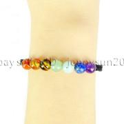 Natural-Reiki-Chakra-Gemstones-Round-Beads-Handmade-Adjustable-Bracelet-Healing-262784805350-ff78