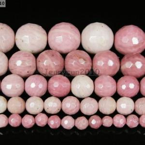 Natural-Rhodochrosite-Gemstone-Faceted-Round-Beads-155-4mm-6mm-8mm-10mm-12mm-261319001562