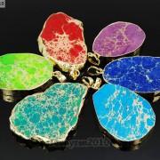 Natural-Sea-Sediment-Jasper-Gemstone-Nugget-Sliced-Necklace-Pendant-Charm-Gold-261862210560-3