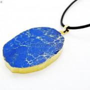 Natural-Sea-Sediment-Jasper-Gemstone-Nugget-Sliced-Necklace-Pendant-Charm-Gold-261862210560-4623