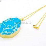 Natural-Sea-Sediment-Jasper-Gemstone-Nugget-Sliced-Necklace-Pendant-Charm-Gold-261862210560-c153