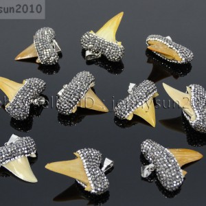 Natural-Shark-Tooth-Czech-Crystal-Rhinestones-Pendant-Necklace-Charm-Beads-371500748128